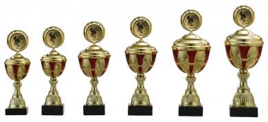 Pokale 6er Serie S500 gold/rot mit Deckel