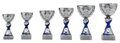 Danke Pokale 6er Serie S501 silber/blau