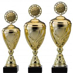 Pokale Serie S751-3erB gold mit Deckel 33 cm bis 47 cm