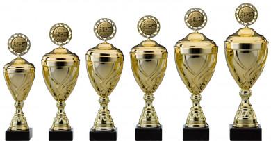 SALE: Pokale Serie S751-6er gold mit Deckel 29 cm bis 47 cm