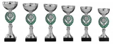 Pokale 6er Serie S154 silber-grün