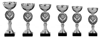 Pokale 6er Serie S156 silber-schwarz