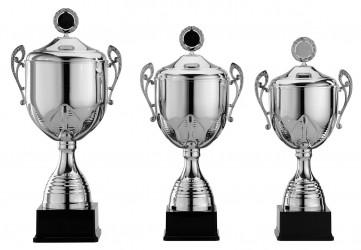 Pokale mit Henkel Serie S965 silber und mit Deckel