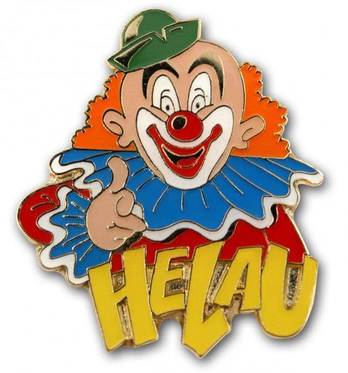 Karnevalspin Clown Mit Helau