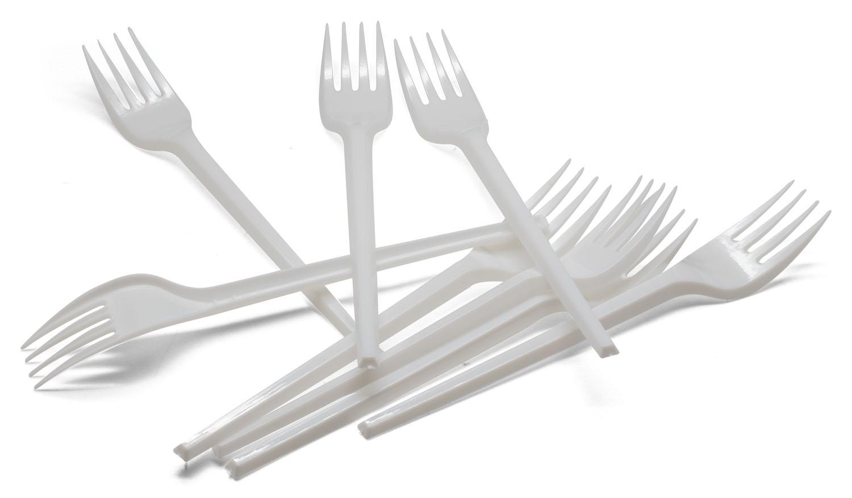 100 Gabeln Plastik Plastikgabeln Einweggeschirr Kunststoffgabeln