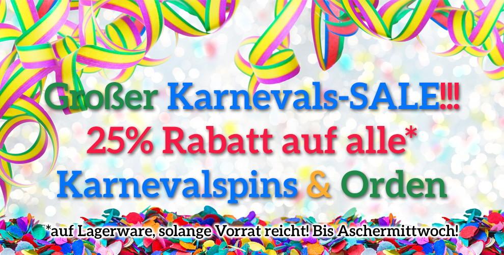 25% Karnevalsrabatt