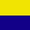 Band mit Ring gelb-blau