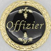 Auflage Offizier schwarz