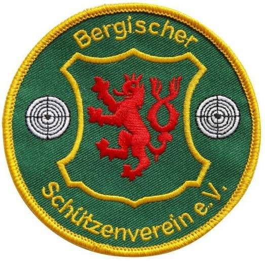 """Stickabzeichen """"Bergischer Schützenverein"""""""