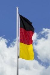 Deutschlandfahne - Hissfahne hoch