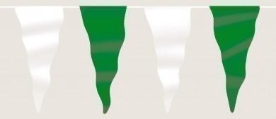 Wimpelkette grün-weiß aus Stoff (Meterware)
