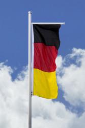 Deutschlandfahne - Hissfahne hoch für Querausleger