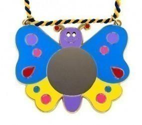 Karnevalsorden - bunter Schmetterling