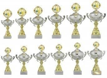 Pokale mit Henkel 12er Serie S747 silber/gold