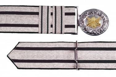 Feldbinde silber mit schwarzen Streifen (schwarz National)