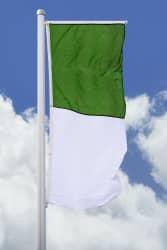 Schützenfahne - Hissfahne hoch grün-weiß für Querausleger
