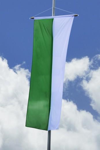 Schützenfahne - Bannerfahne grün-weiß