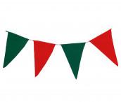 Wimpelkette grün-rot aus Stoff (Meterware)