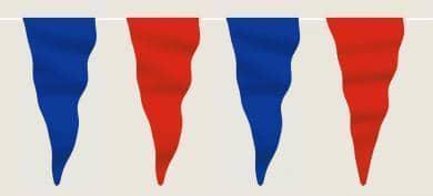 Wimpelkette blau-rot aus Stoff (Meterware)