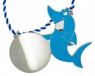 Karnevalsorden - grinsender Hai