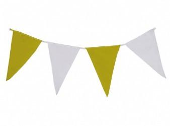 Wimpelkette gelb-weiß aus Stoff (Meterware)