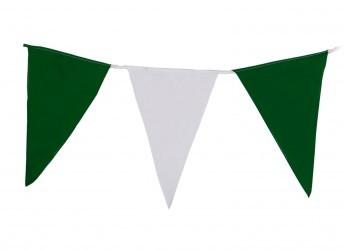 Wimpelkette grün-weiß XXL EXTRA GROßE WIMPEL