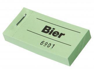 """Blockgutscheine """"Bier"""""""