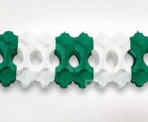 Girlande grün/weiß