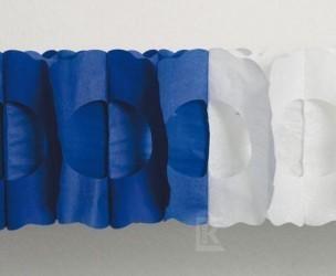 Maxi-Girlande blau/weiß, oval,
