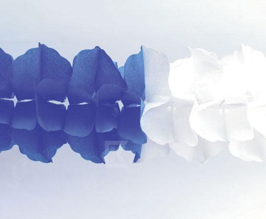 Maxi-Girlande blau/weiß