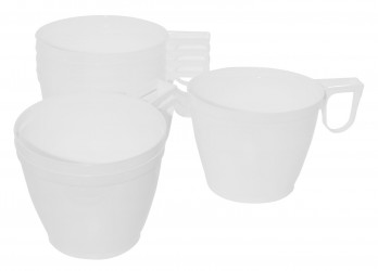 50 Stk. Kunststoff Kaffeetassen