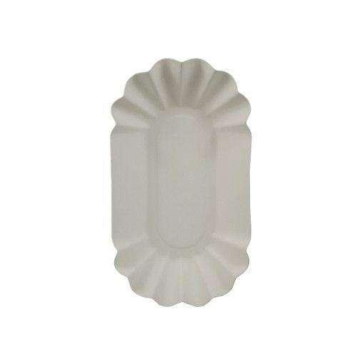 250 Stk. Pappschalen, weiß, oval