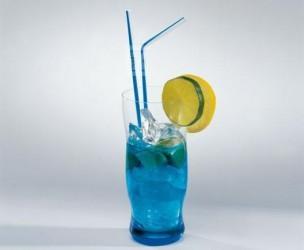 Flexhalme in blau/weiß (100 Stück)