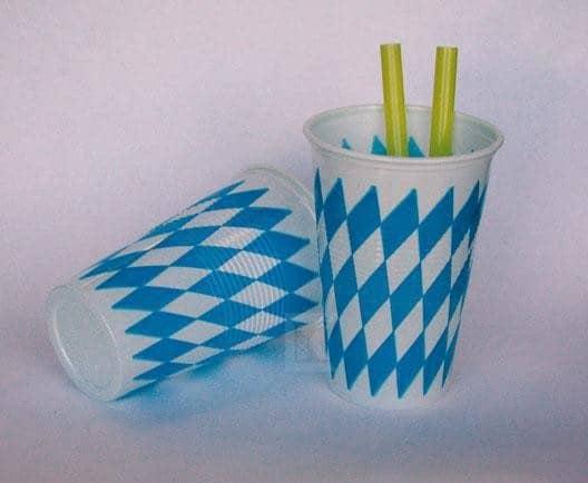 10 Trinkbecher Bayern aus Kunststoff