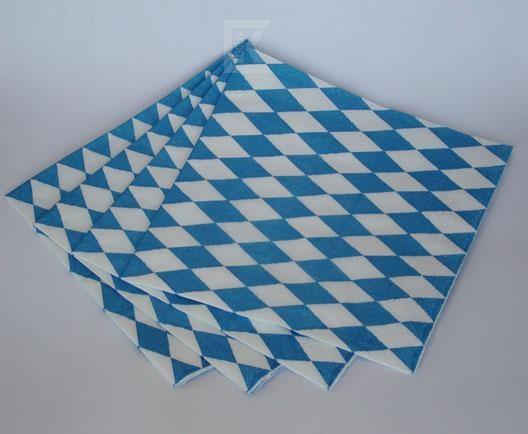 20 Stk. Servietten 3-lagig Bayern