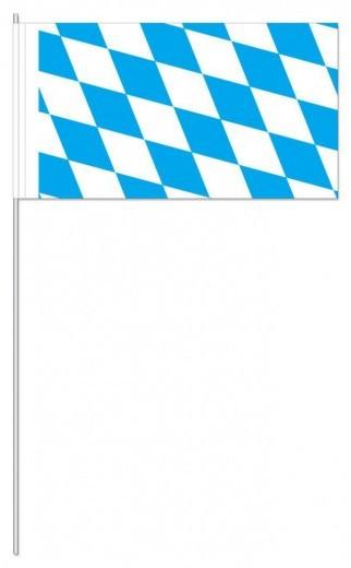 50 Stück Papierfahnen Bayernraute