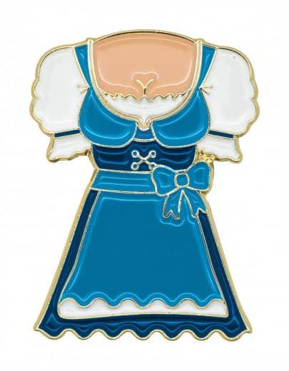 "Oktoberfestpin ""Dirndl"" blau"