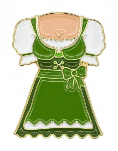 "Oktoberfestpin ""Dirndl"" grün"
