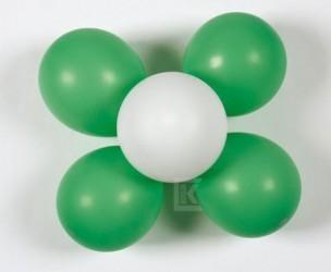 2 Stk. Luftballon-Dekorationsset Blume grün/weiß
