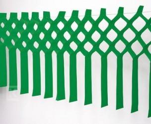 Maxi-Fransengirlande grün, schwer entflammbar