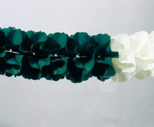 Maxi-Girlande grün/weiß