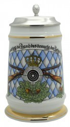 "Porzellankrug ""Schützen/Raute"""