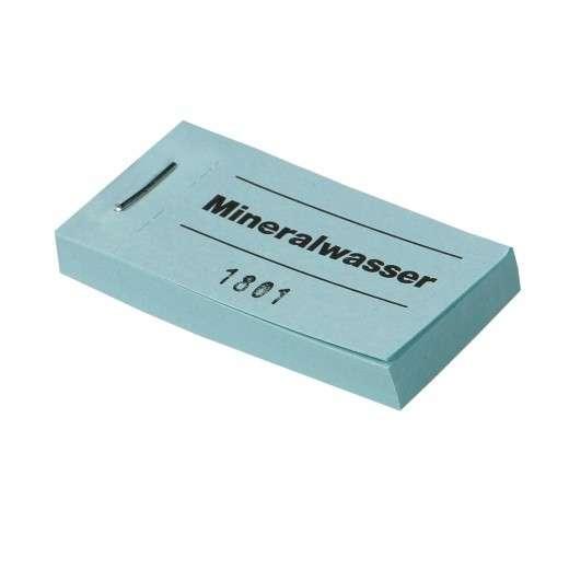 """Blockgutscheine """"Mineralwasser"""""""