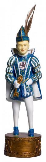Figur Karnevalsprinz blau/weiß