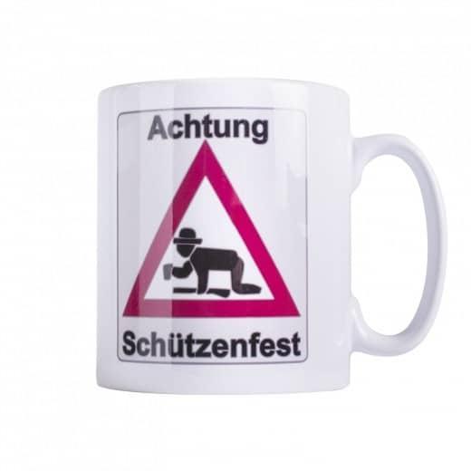 "Tasse ""Achtung Schützenfest"""