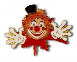 Clown aus Farbkleks