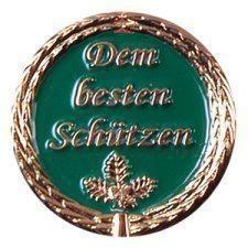 """Anstecknadel """"Dem besten Schützen"""" grün"""