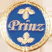 Anstecknadel Prinz blau