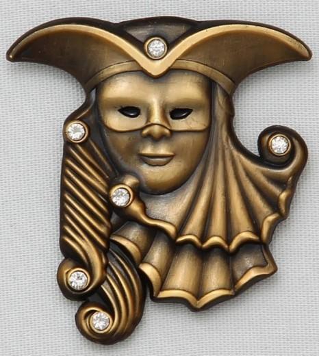 Karnevalsbrosche: venezianische Maske
