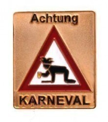 Achtung Karneval Pin